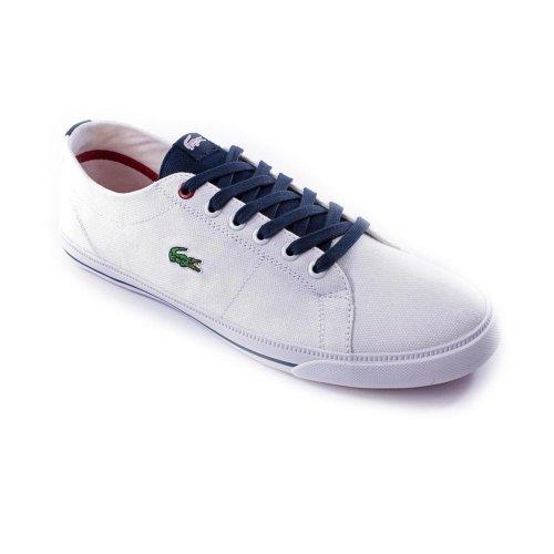Lacoste Marcel AGK Sneaker (Toddler/Little Kid/Big Kid),White/Dark Blue,6 M US Big Kid