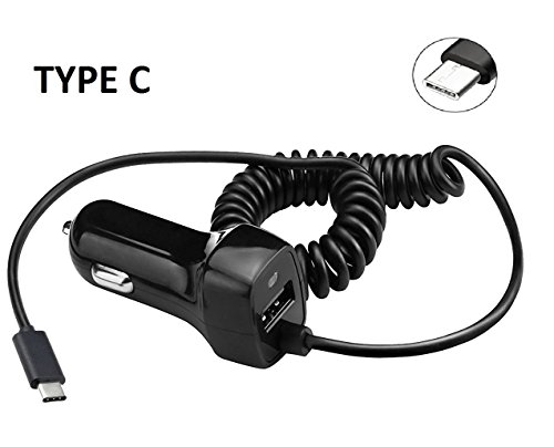 Type C USB 3.1 Car Charger LG Q7+ Q7 Plus + Gift Stand