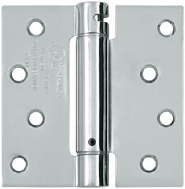 Deltana DSH44U10B Single Action Steel 4-Inch x 4-Inch Spring Hinge