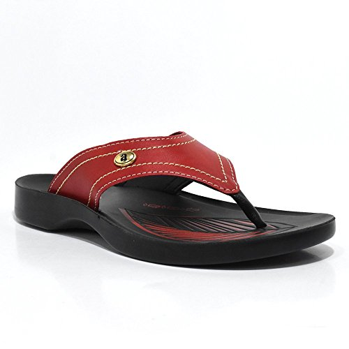 Thong Style Sandals For Women | Arch Supportive | Casual - Semi Casual Wardrobe Essentials | Aerosoft Tendril Red 7Klnp