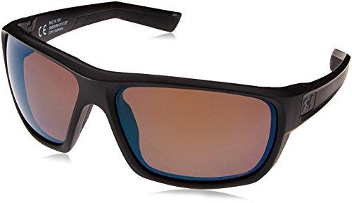 (Under Armour Wrap Sunglasses, UA Launch Satin Black/Shoreline Polarized, L/XL)