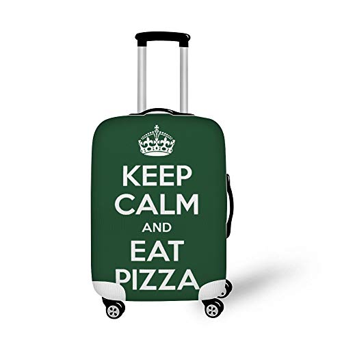 Keep Calm and Eat Pizza Fashionable Baggage Suitcase Protector Travel Luggage Cover Anti-Scratch