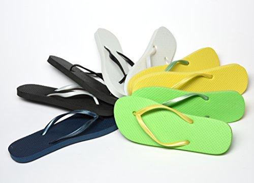 Unbekannt - Sandalias de vestir de Material Sintético para hombre amarillo/verde