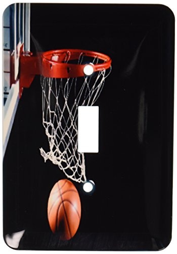 3dRose LLC lsp_109442_1 Basketball Hoop with Ball Single Toggle (Basketball Switchplate)