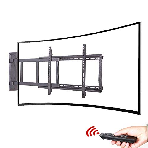 32-70 Inch Intelligent Remote Control Electric Curved TV Rack Multi-Function Retractable Rotary Display Rack Safety Anti-Collision Infrared Control (Size : 32-55 inch)