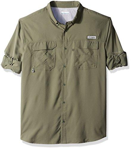 Columbia Men's Blood & Guts iii Long Sleeve Woven Shirt, Cypress, XX-Large