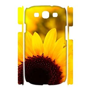 QSWHXN Sunflower Customized Hard 3D Case For Samsung Galaxy S3 I9300
