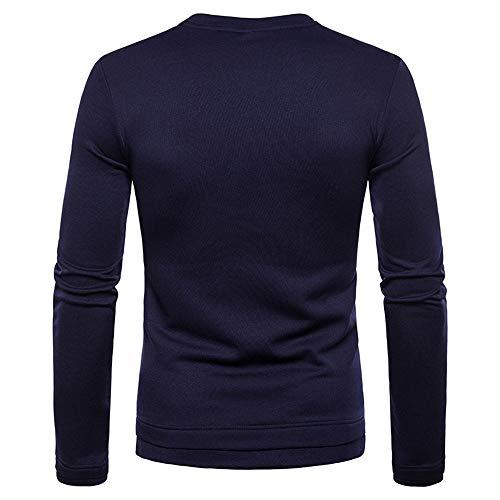 Camiseta Color Para Otoño De Armada Delgado Hombres Espesar Sólido Manga Hombre Y Cuello Beladla Alto Larga Invierno Puro Con HxYawqfHd6