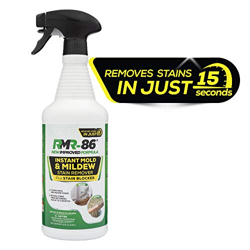 RMR-86 Instant Mold Stain and Mildew Stain Remover Plus Mold Stain Blocker 32 ounces withSprayer