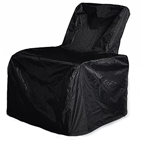 Outdoor Patio Furniture Chair Protective Storage Cover, Durable and Water Resistant High Back Outdoor Chair Cover, (Two Dogs Designs Fire Pit Cover)