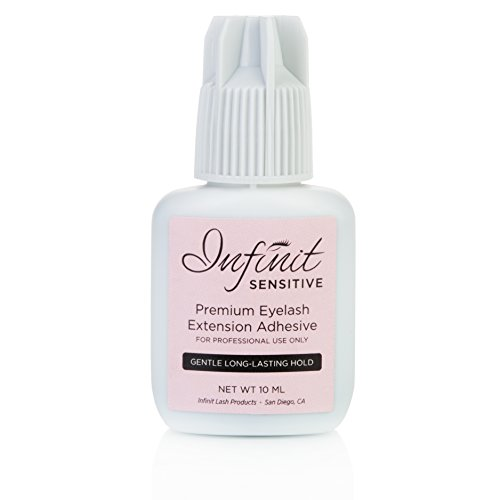 SENSITIVE-Eyelash-Extension-Glue-by-INFINIT-10-ML-Professional-Grade-GENTLE-Lash-Adhesive-is-for-Individual-Lashes-Designed-to-Minimize-Irritation-Fumes-Odor-Safe-Latex-Free