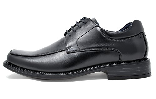 Toe Shoes Black Marc Oxfords Bruno Square Leather Dress Men's Lined qU8xAwxvX