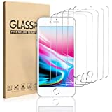 EasySo [5 Pack] Screen Protector for iPhone 8 Plus/iPhone 7 Plus/iPhone 6S Plus/iPhone 6 Plus [5.5 Inch] 0.26mm Tempered Glass Screen Protector, 3D Touch, Case Friendly, Bubble Free, Anti-Scratch