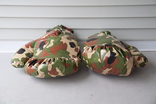 Giant Boxing Gloves for Bounce House Inflatables, Commercial Quality Low Density Foam and Double Stitched Vinyl, Replacement for Interactive Inflated Boxing Ring (Green and Brown Camo Pair) by TentandTable (Image #6)