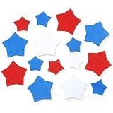 Darice Foamies Shapes-Patriotic Stars-Red, White, Blue