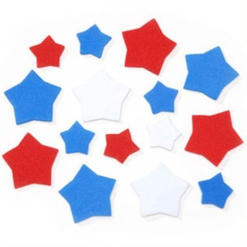 88 Red Star - Darice Foamies Shapes-Patriotic Stars-Red, White, Blue