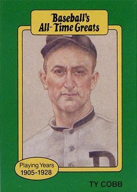 1987 Hygrade All Time Greats Ty Cobb Baseball Card At