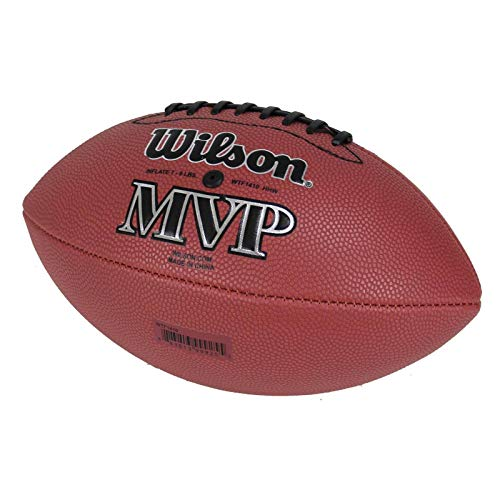 Wilson-MVP-Junior-Size-Double-Lace-Leather-Composite-American-Football-WTF1410
