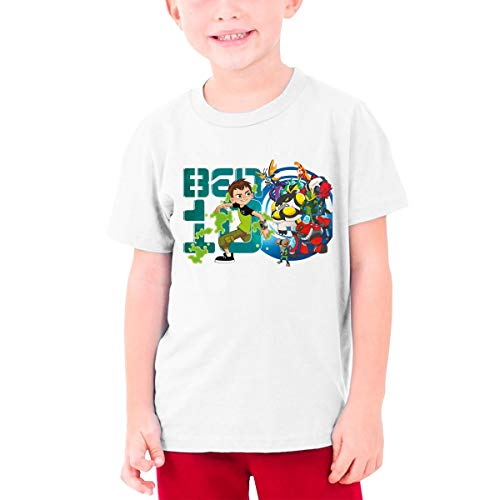 Custom Girls Boys Cool Ben-10-Reboot 100% Cotton Tee T-Shirts Adolescent Tees Tops White (Ben 10 Omniverse Shirts)