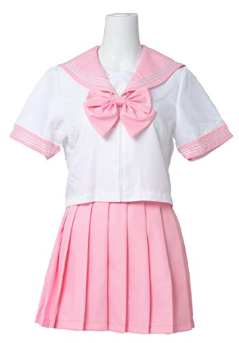 428DROPP Japanse Sailor Uniform School Anime Kawaii Costume Cosplay Small Dark Pink