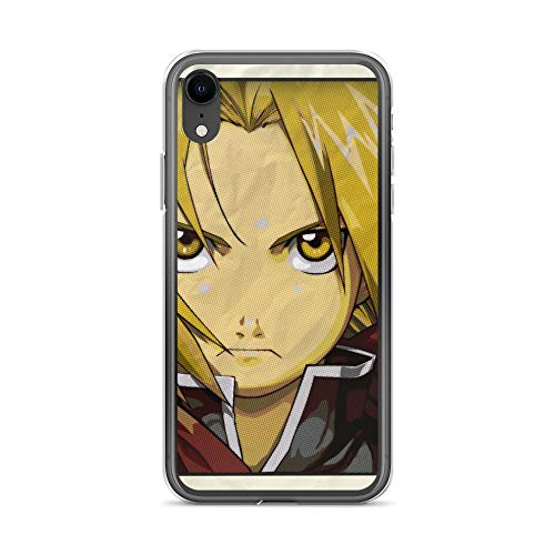 (iPhone XR Case Anti-Scratch Japanese Comic Transparent Cases Cover Edward Elric Anime & Manga Graphic Novels Crystal Clear)