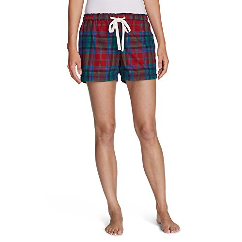Eddie Bauer Womens Short (Eddie Bauer Women's Flannel Sleep Shorts, Holly Red XL)