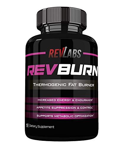 Rev Labs | Rev Burn | Thermogenic Fat Burner | The #1 Ground Breaking Fat Burning Amplifier Diet Pill for men and women, Carb Blocker & Appetite Suppressant, Weight Loss Pills, 60 Cap