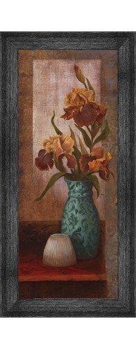 (Poster Palooza Framed Spiced Jewels II - Mini- 8x20 Inches - Art Print (Black Barnwood Frame))