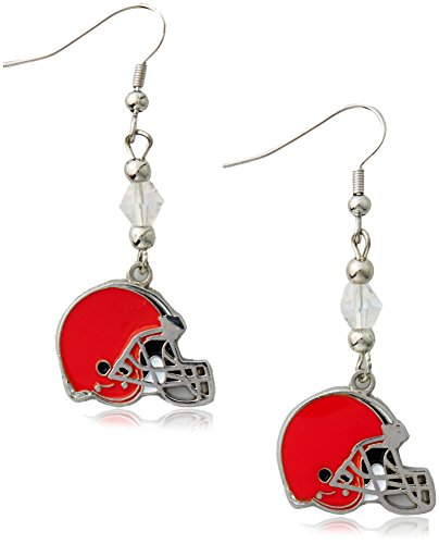 Siskiyou NFL Cleveland Browns Crystal Dangle Earrings
