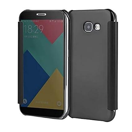 sale retailer c7663 35bda TGK Samsung Galaxy J5 Prime Case, Mirror Smart Clear View Window Flip Case  Cover for Samsung Galaxy J5 Prime (Black)