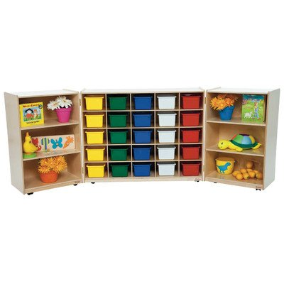 Kid's Play Tri-Fold Storage Unit w 25 Assorted Trays