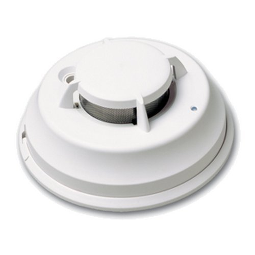 DSC FSA-410BST   Wired Photoelectric Smoke Detector (4-Wire with INT Sounder and Heat (Dsc 4 Wire)