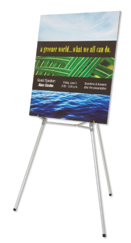 Quartet Heavy Duty Flipchart or Display Easel, 66' Max. Height, 35 Lbs. Max. Weight, Silver Aluminum (54ETL)