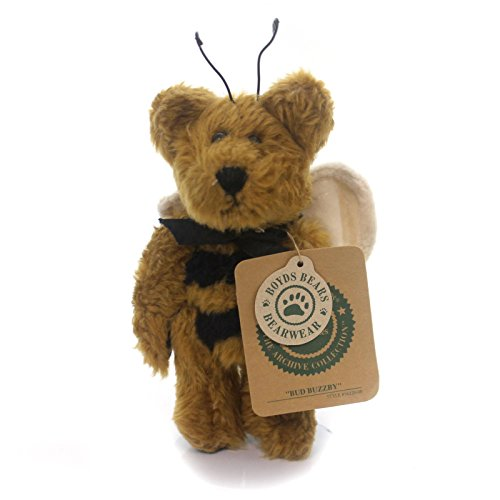 Boyds Bears Plush BUD BUZZBY ORNAMENT Fabric Archive Collection 5622008