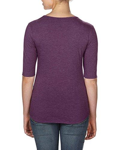 Anvil - Camiseta - para mujer Heather Aubergine