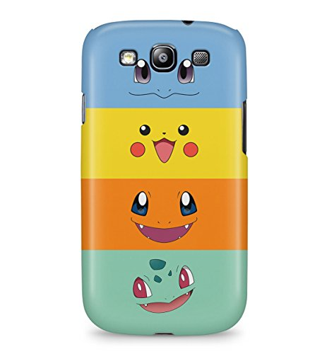 Pokemon Starters Pikachu Bulbasaur Squirtle Charmander Face Hard Plastic Snap-On Case Cover For Samsung Galaxy S3 Photo - Pokemon Gaming