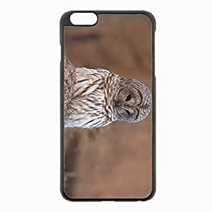 iPhone 6 Plus Black Hardshell Case 5.5inch - owl sadness Desin Images Protector Back Cover