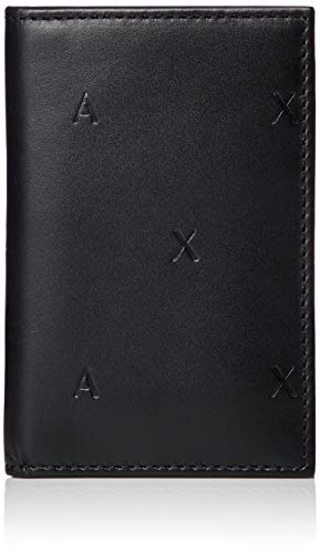 Armani Exchange Men's Embossed Card Holder, Nero/Black, UNI