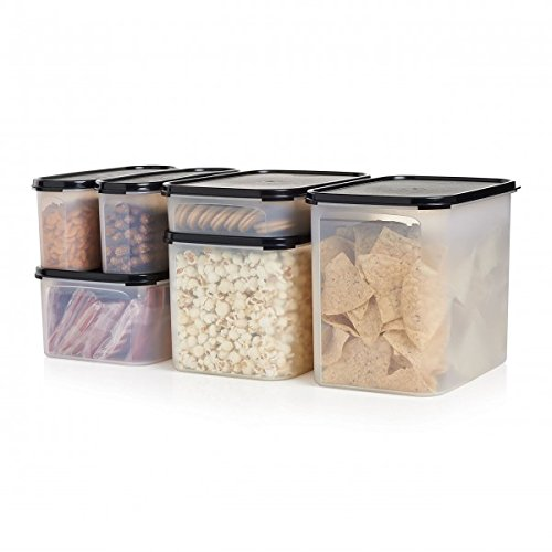 (Snack Storage Container Center Modular Mates Tupperware Black 6 Piece)