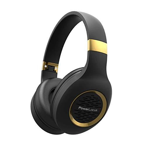 Bluetooth Headphones Over-Ear, PowerLocus Wireless Headphones, Hi-Fi Stereo Deep Bass, Soft Earmuffs Foldable Headphone…