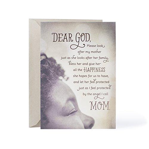 Friend Birthday Happy Dear - Hallmark Mahogany Religious Birthday Greeting Card for Mother (Angel I call Mom)