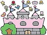 RoomMates RMK1200GM Hello Kitty Princess Castle Peel & Stick Giant Wall Decal