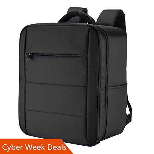 Oukey DJI Phantom 4 / 4 Pro Backpack, Upgraded Professional Portable Waterproof Carry Case for Carrying DJI Accessories ( Original Styrofoam Case, Batteries, Propellers are NOT Included) ,Black by Oukey