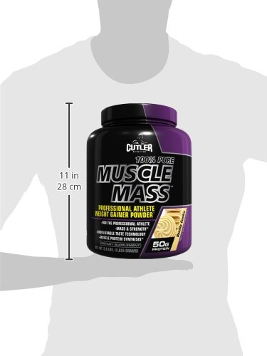 Cutler Nutrition 100% Pure Muscle Mass Professional Athlete Weight Gainer Powder, Vanilla Cookie, 5.8-Pound