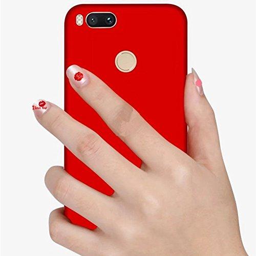 SMTR Xiaomi Mi A1 Funda, Calidad Premium Cubierta Delgado Caso de PC Hard Gel Funda Protective Case Cover para Xiaomi Mi A1 -Oro rosa rojo