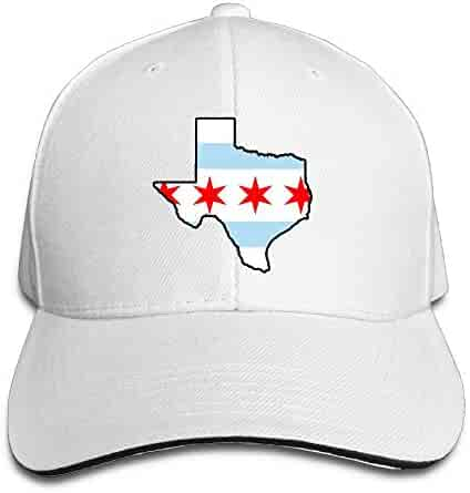 762e6bbcdcc Youbah-01 Women s Men s Chicago Flag Texas Map Adult Adjustable Snapback  Hats Baseball Cap