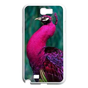 DIY Peacock Case, DIY Cell Phone Case for samsung galaxy note 2 n7100 with Peacock (Pattern-5)