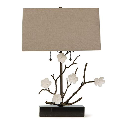 Andrew Regina Design - Regina Andrew Cherise Horizontal 100 Watt Max Bronze and Brass 2 Socket - Decorative Table Lamp