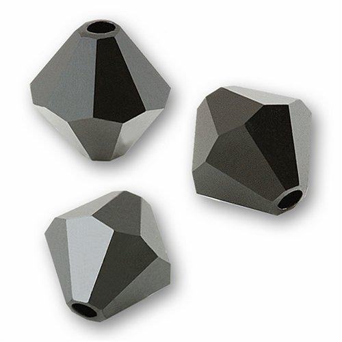 Swarovski Crystal Bicone 5301 6mm JET Beads (20)