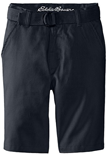 (Eddie Bauer Boys' Twill Pant (More Styles Available), Basic Navy, 12)
